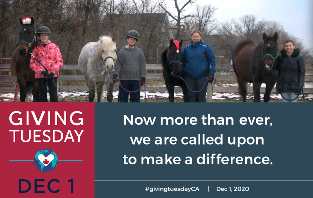 Kids and horse - Giving Tuesday 2020