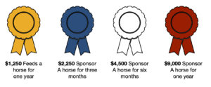 Horse sponsorship levels